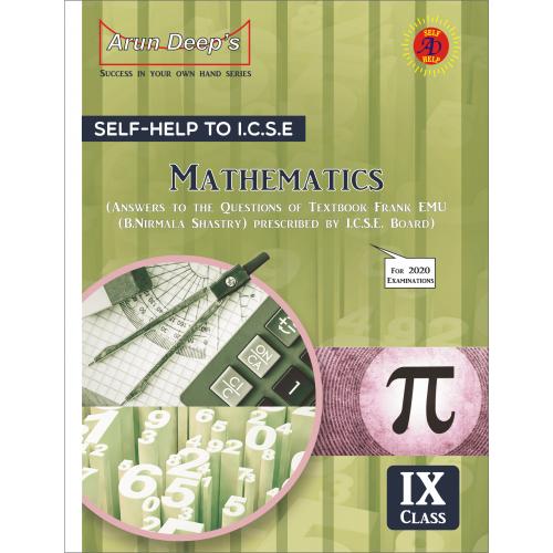 Self-Help to I.C.S.E. Frank EMU Mathematics class 9